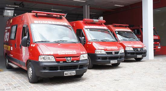 Ambulancias Bombeiros Voluntários de Joinville
