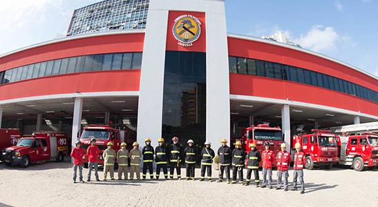 Prédio dos bombeiros voluntários de joinville
